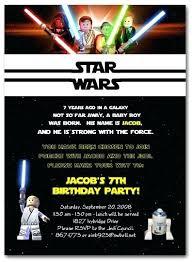 Star Wars Birthday Party Invite Stick Fun Invitation Wording