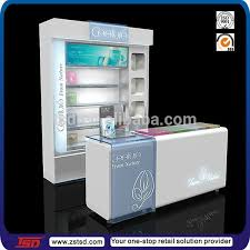 Free Standing Shop Display Units Tsdw100 Display Stand For MakeupCosmetics Wooden Showcase 25