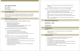 Assembly Line Job Description For Resume