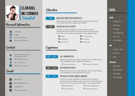 Resume Example Cool Resume Templates For Mac Clean Resume