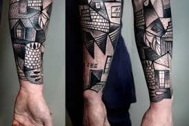 Kubistická Tetování Creativelifecz Kreativní Inspirace Každý Den
