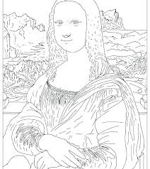 Mona Lisa Coloring Page Coloring Page And Coloring Page Coloring