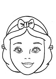 Maschere Di Carnevale Per Bambini Biancaneve Disegni Da Colorare