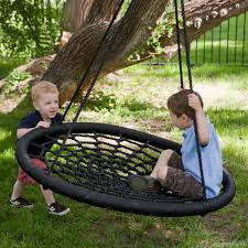 exterior: Stunning Swing For Tree Style Designed For Swing And Spin Concept  Created Using Round