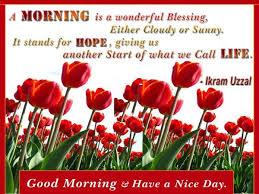 Good Morning Have A Nice Day Quotes Best of Good Morning Quotes A Morning Is A Wonderful Blessing Either