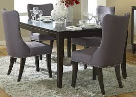 grey upholstered dining chairs decofurnish dark gray dining room chairs