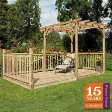 forest ultima pergola deck kit 2 4 x 4 8m
