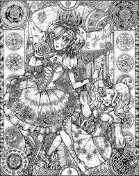 Gothic Fairy Coloring Pages Coloringrocks