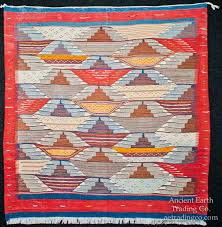 red blue zanafi tribal reversible wool flatweave throw rug carpet moroccan carpets rugs textiles home decor