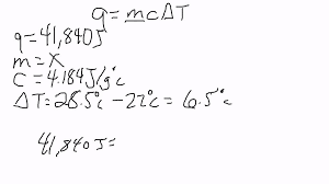 specific heat solving for the mass using the specific heat formula you