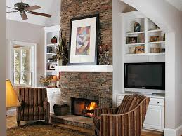 living room with stone fireplace with tv. Living Room Ideas With Brick Fireplace And Tv Stone 7