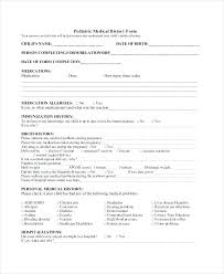 medical health history form health history form template for massage therapy family medical