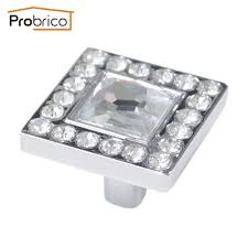 Probrico Wholesale 100 Pcs Crystal Furniture Drawer Knob Ps6570pc