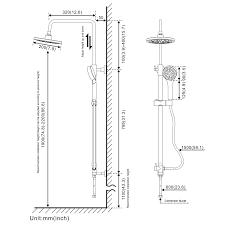 Bonade Duschsystem Duschsäule Ohne Wasserhahn Inkl Handbrause Duschkopf Duschstange Duschset Höhenverstellbar 90 120cm Regendusche überkopfbrause