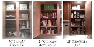 storage cabinet shelf spacing kitchen