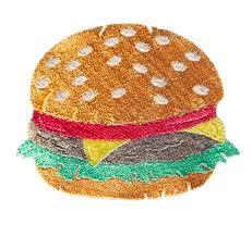 cheeseburger pattern. Simple Cheeseburger Zoom On Cheeseburger Pattern 3