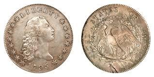 1795 Flowing Hair Silver Dollar Silver Plug Coin Value