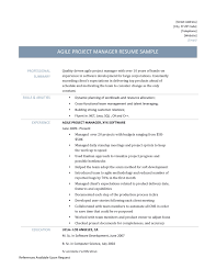 agile business analyst resume template and job description agile project manager resume template