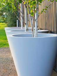 conical ultra large garden pots made to