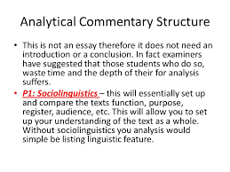sac informal discourse comparative analysis analytical  4 analytical commentary