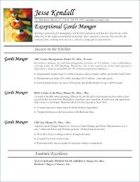Sample Resume For Sous Chef Resume Layout Com
