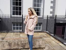 jeggings and dusky rain coat