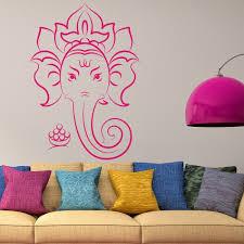 ganesha wall sticker elephant wall decal hindu home decor