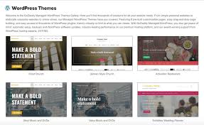 Godaddy Website Templates Unique WordPress Themes GoDaddy