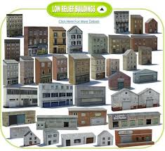 low relief buildings catalog