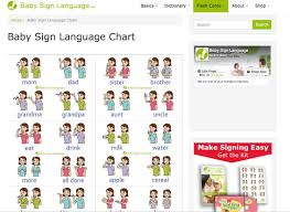 Sign Language Chart Printable Baby Sign Language Free Resources Charts Flash Cards