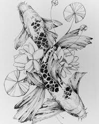 Yana Lee Art карп татуировки рыбы эскиз тату карп тату