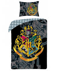 harry potter crest single duvet cover and pillowcase set