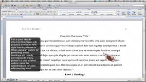 Formatting Apa Style Body Using Headings Ms Word For Mac 2011