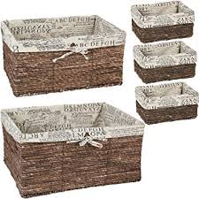 Decorative Storage Boxes And Baskets Amazon Nesting Baskets 60 piece set Storage and Organization 2