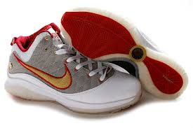 lebron james shoes white and gold. nike lebron vii p.s. white/gray/red with gold logo shoes,lebron james shoes white and