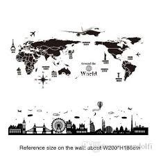 shijuehezi world map wall stickers diy