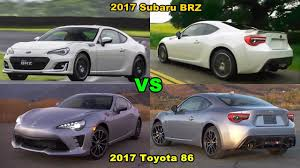 2017 Subaru BRZ vs 2017 Toyota 86 - YouTube