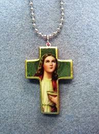 saint lucy of syracuse handmade wood