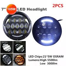 Dot Approved Led Lights Us 89 25 25 Off Dot Approval 7 Inch Headlamp 105w Led Projector Headlight Headlamps For Jeep Wrangler Off Road 4x4 Trucks Harley Motorcycle In Car