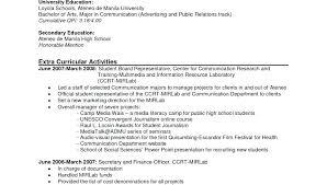 Resume Format Sample For Job Application Samples Resume Sample