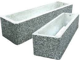 large cement planters breathtaking concrete planter boxes for layout design within decorations making diy containers ceme