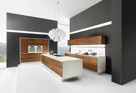 White wood kitchen Handleless Black Wall White Kitchen Cabinets And Contemporary Kitchen Island Design With Wooden Panels Shutterstock 200 Modern Kitchens And 25 New Contemporary Kitchen Designs In Black