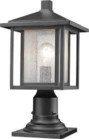 z lite 554phm 533pm bk aspen black exterior lamp post light fixture loading zoom