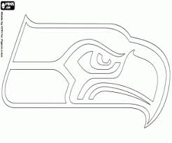 Small Picture Logo of Seattle Seahawks coloring page printable game