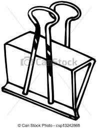 clip art vector of paper clip cartoon paper clip raising his