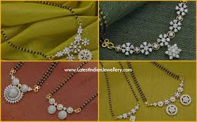 Indian Jewellery Designs Mangalsutra Diamond Pendant Black Beads Mangalsutra Designs Latest