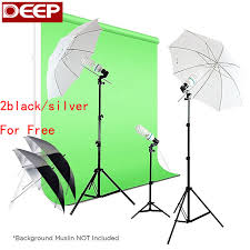 525w photography photo portrait studio day light umbrella continuous lighting kit translucent white black
