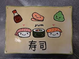 cute faces sushi plate customer artwork all fired up in richmond va