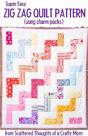 Free Zig Zag Quilt Pattern and Tutorial - Scattered Thoughts of a ... & Use this free Quilt pattern and tutorial to make a picnic sized zig zag  (large Adamdwight.com