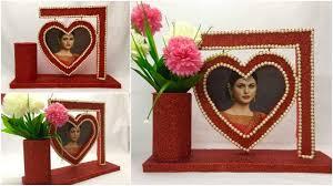 how to make love photo frames diy handmade decoration ideas at home